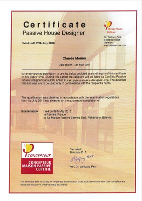 Certification Passive House